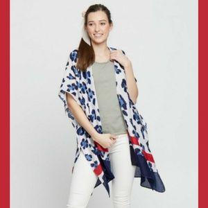 Women's blue/red kimono